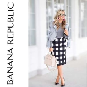 Iconic Gingham Pencil Skirt